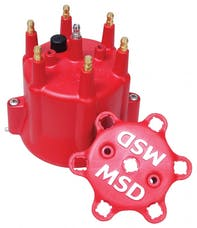 MSD Performance 8014 Dist Cap, Chevy 6 Cyl, Clip Down