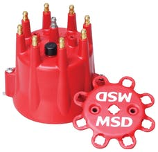 MSD Performance 8433 Distributor Cap, Chevy V8, HEI, Retainer