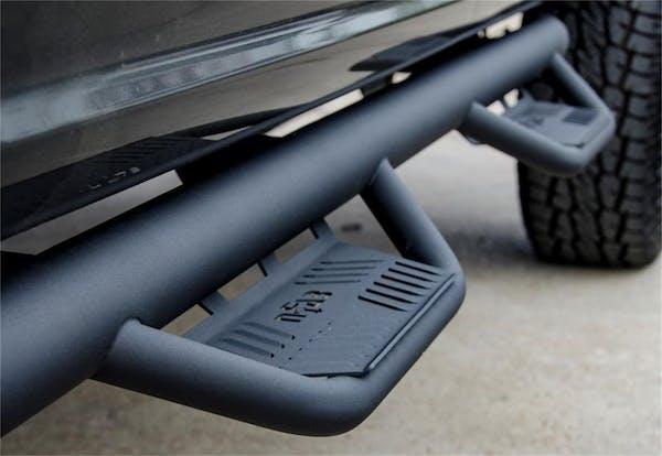 N-FAB HPF0989CC-TX Podium LG Step Systems Textured Black Cab Length