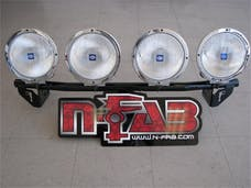 N-FAB D045LB Light Bar L.M.S. Gloss Black Light Tabs