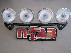 N-FAB F094LB Light Bar L.M.S. Gloss Black Light Tabs