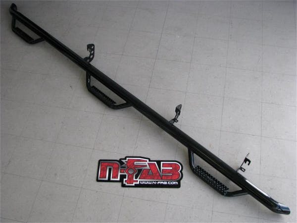 N-FAB F11114CC-6 Nerf Step Step Systems Gloss Black Bed Access