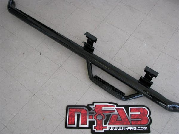 N-FAB F9946RC Nerf Step Step Systems Gloss Black Cab Length