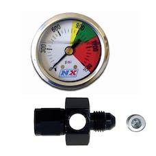 Nitrous Express 15510P Nitrous Flo-Thru Nitrous Pressure Gauge
