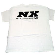 Nitrous Express 16516P White T-Shirt w/Black NX