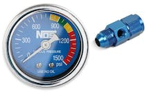 NOS 15950NOS GAUGE,N2O,BLUE W/AN8 ADAPTER, DRY