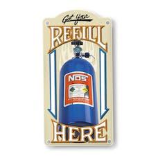 NOS 19326NOS NOS REFILL METAL SIGN