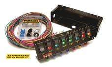 Painless 50303 8-Switch Fused Panel w/all necessary wiring/hardware