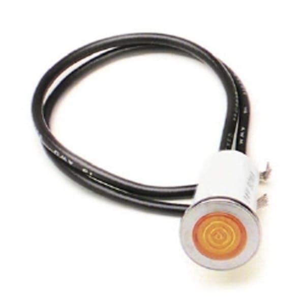 Painless 80208 1/2in. Dash Indicator Light/Amber