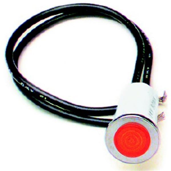 Painless 80209 1/2in. Dash Indicator Light/Red