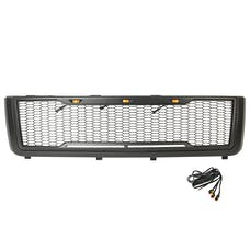 Paramount Automotive 41-0181MB Impulse Mesh Packaged Grille, Matte Black with Amber LEDs