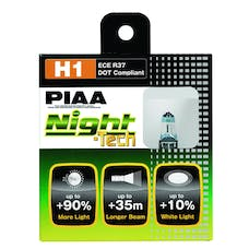 PIAA 10701 Night Tech Series White Halogen Bulb (H1, Twin Pack)