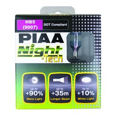 PIAA 10727 Night Tech Series White Halogen Bulb (9007/HB5, Twin Pack)