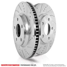 Power Stop LLC EBR841XPR Power Stop Drilled and Slotted Brake Rotor (Pair)