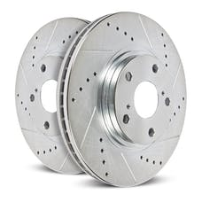 Power Stop LLC AR8166XPR Evolution Performance Drilled/Slotted/Plated Brake Rotor Set