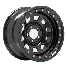 Pro Comp Steel Wheels 252-5165F 15x10 5x4.5 3.75in BS Flat Black D-Window