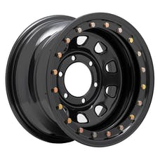 Pro Comp Steel Wheels 252-5183F 15x10 6x5.5 3.75in BS Flat Black D-Window