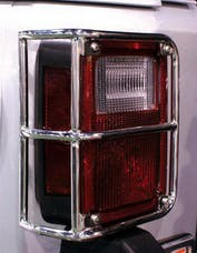 Rampage Products 88460 Tail Light Guards; Stainless; Pair