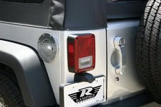 Rampage Products 85001 Billet Style Fuel Door Cover; Polished; Locking Incl. 2 Keys