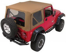 Rampage Products 68736 Complete Soft Top Kit - Frame & Hardware for Full Steel Doors, Khaki Diamond