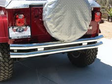 Rampage Products 8448 Double Tube Bumper Black - Rear with Receiver