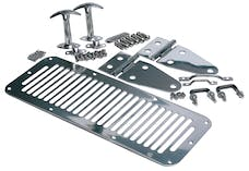 Rampage Products 7499 Complete Hood Kit; Hood Catches/Hinges/Vent/Footman Loop/Windshield Tie Down
