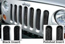 Rampage Products 86513 Single Piece 3D Grille; Gloss Black w/Clear Coat Polished Highlights