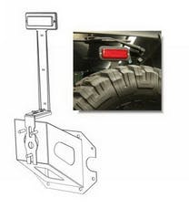 Rampage Products 86615 Third Brake Light Kit; Black Universal; Incl. Adjustable Frame/LED Light Fixture