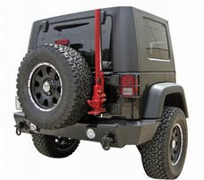 Rampage Products 88605 Rear Recovery Bumper; Black Textured Finish; Lights Sold Separately