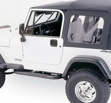 Rampage Products 68035 Complete Soft Top Kit - Frame & Hardware for Full Steel Doors, Black Diamond