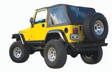 Rampage Products 109535 Frameless Soft Top Kit; Black Diamond; w/Tinted Windows
