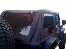 Rampage Products 109735 Frameless Soft Top Kit Sailcloth; Black Diamond; w/Tinted Windows