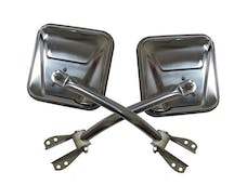 Rampage Products 7417 Side Mirror Set; Stainless; Pair