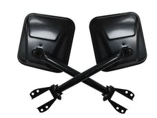 Rampage Products 7617 Side Mirror Set; Black Pair