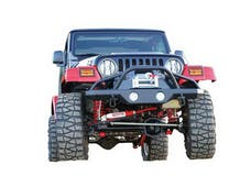 Rampage Products 78510 Front Recovery Bumper; w/Stinger; Black Textured Finish; Lights Sold Separately