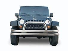 Rampage Products 8420 Double Tube Bumper - Stainless Steel Front with Hoop