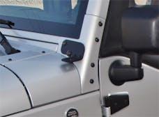 Rampage Products 86692 Windshield Hinge Light Bracket; Black Pair
