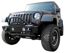 Rampage Products 88509 Front Recovery Bumper; Black Textured Finish; Lights Sold Separately