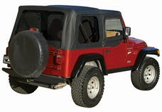 Rampage Products 912935 Factory Replacement Soft Top; Replacement Plus; w/Door Skins; Diamond Black
