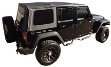 Rampage Products 99835 OEM Replacement for Soft Upper Doors, Black Diamond
