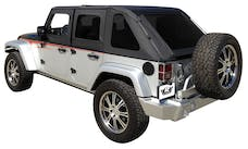 Rampage Products 109835 Frameless Soft Top Kit Sailcloth; Black Diamond; w/Tinted Windows