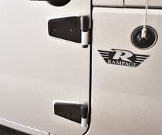 Rampage Products 87641 Door Hinges; For Use w/Full Or Half Doors; Black Powder Coat Stainless; 2 Pair