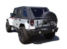 Rampage Products 88606 Rear Recovery Bumper; Black Textured Finish; w/Swing Away Tire Mount
