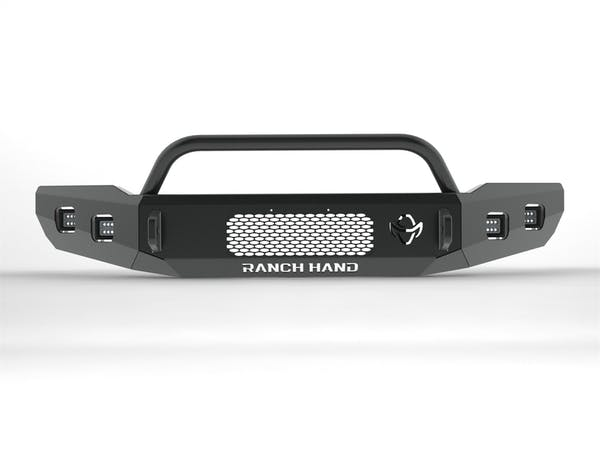 Ranch Hand HFF18HBMT Horizon Series Bullnose Front Bumper; w/Top Ring; 16.5 in. Winch Ready;