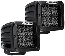 RIGID Industries 202513BLK D-Series Pro Spot Diffused Midnight Surface Mount | Pair