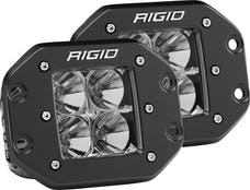 RIGID Industries 212113 D-Series PRO Flood LED Light, Flush Mount