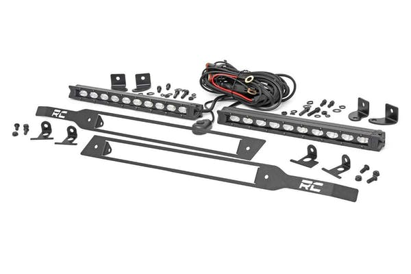 Rough Country 70817 Chevy Dual 10in LED Grille Kit | Black Series (2019 Silverado 1500)