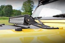 Rough Country 70210 20-inch Single or Dual Row LED Light Bar Hood Mounting Brackets (Jeep TJ / LJ)