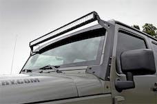Rough Country 70504 50-inch LED Light Bar Upper Windshield Mounting Brackets (Jeep JK / JKU)
