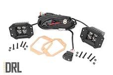 Rough Country 70803BLKDRL Black Series Cree LED Fog Light Kit